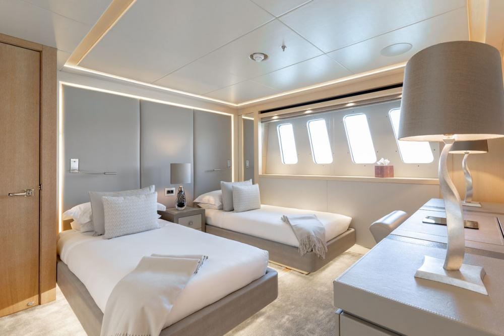ARADOS - Luxury Motor Yacht For Charter - 2 TWIN CONVERTIBLE CABINS - Img 1 | C&N