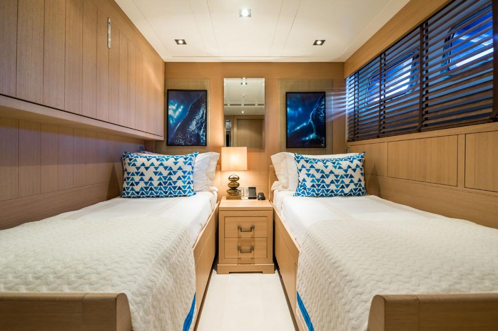 CLICIA - Luxury Motor Yacht For Sale - 2 TWIN CABINS 1 CONVERTIBLE  - Img 2   C&N