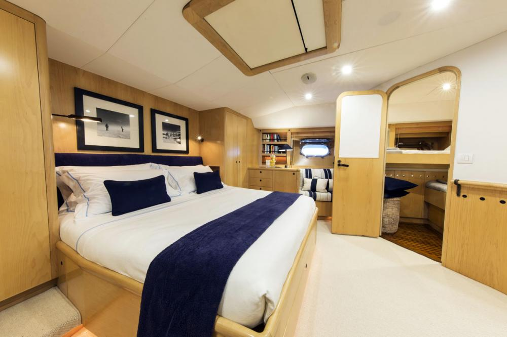 IMAGINE - Luxury Sailing Yacht For Charter - 1 MASTER CABIN - Img 2 | C&N