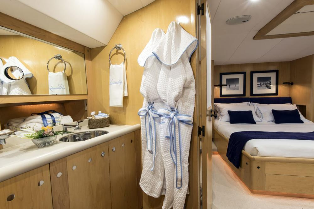 IMAGINE - Luxury Sailing Yacht For Charter - 1 MASTER CABIN - Img 3 | C&N