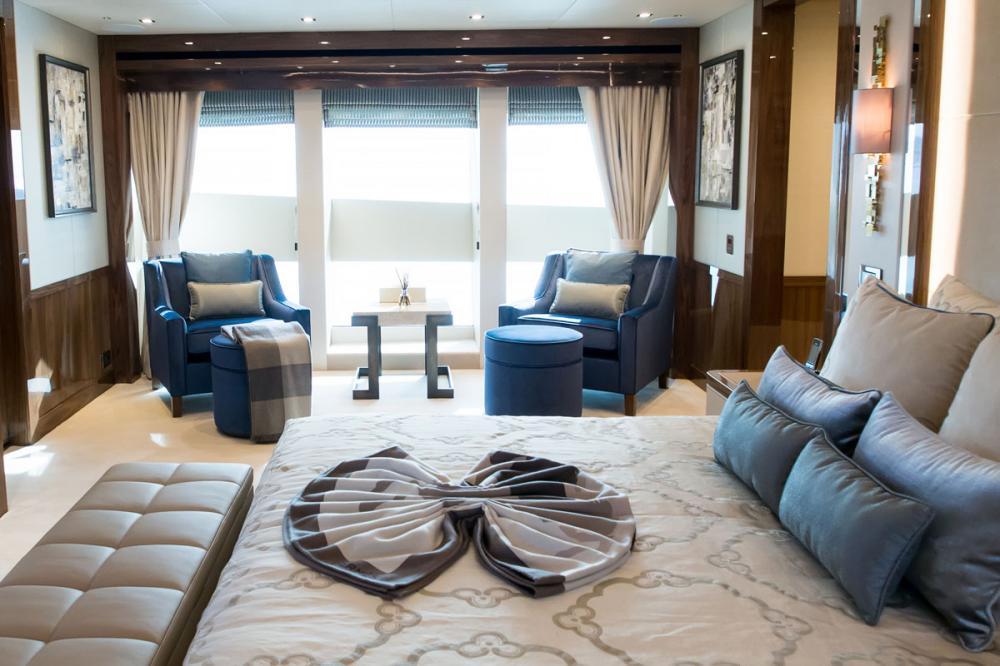 PRINCESS AVK - Luxury Motor Yacht For Charter - 1 MASTER CABIN - Img 3 | C&N