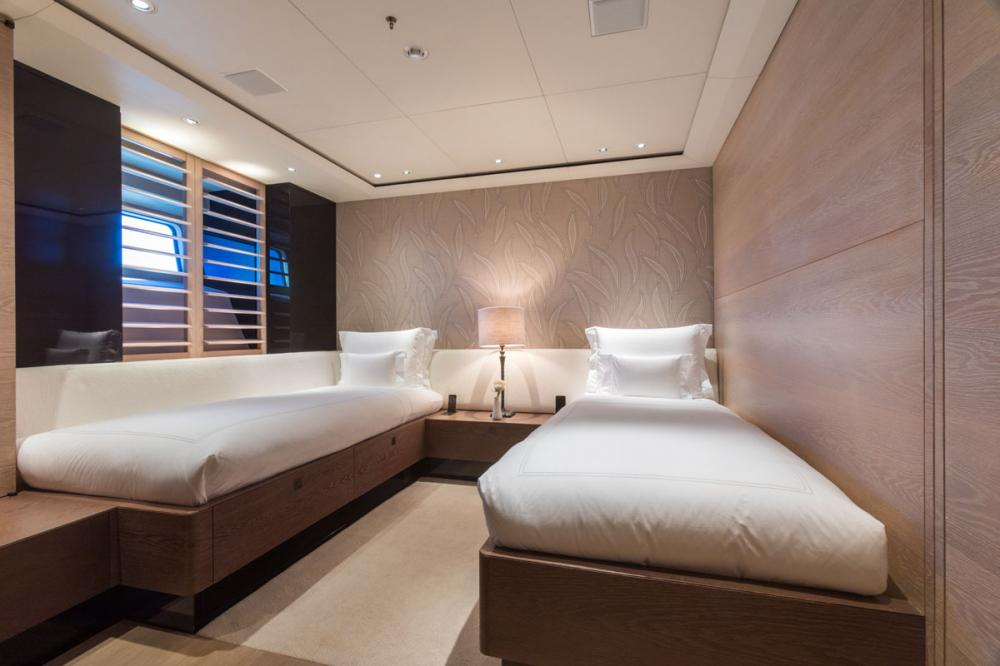TWIZZLE - Luxury Sailing Yacht For Charter - 1 TWIN CABIN - Img 1   C&N