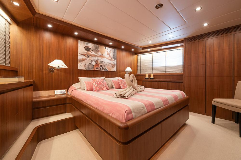 STRAVAGANZA - Luxury Motor Yacht For Sale - 1 MASTER CABIN - Img 2   C&N