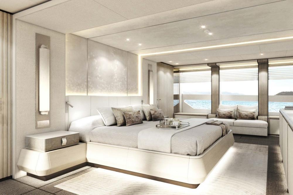 AQUAMARINE - Luxury Motor Yacht For Sale - Full-beam owner's stateroom - Img 1 | C&N