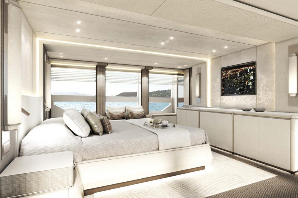AQUAMARINE - Luxury Motor Yacht For Sale - Full-beam owner's stateroom - Img 2 | C&N