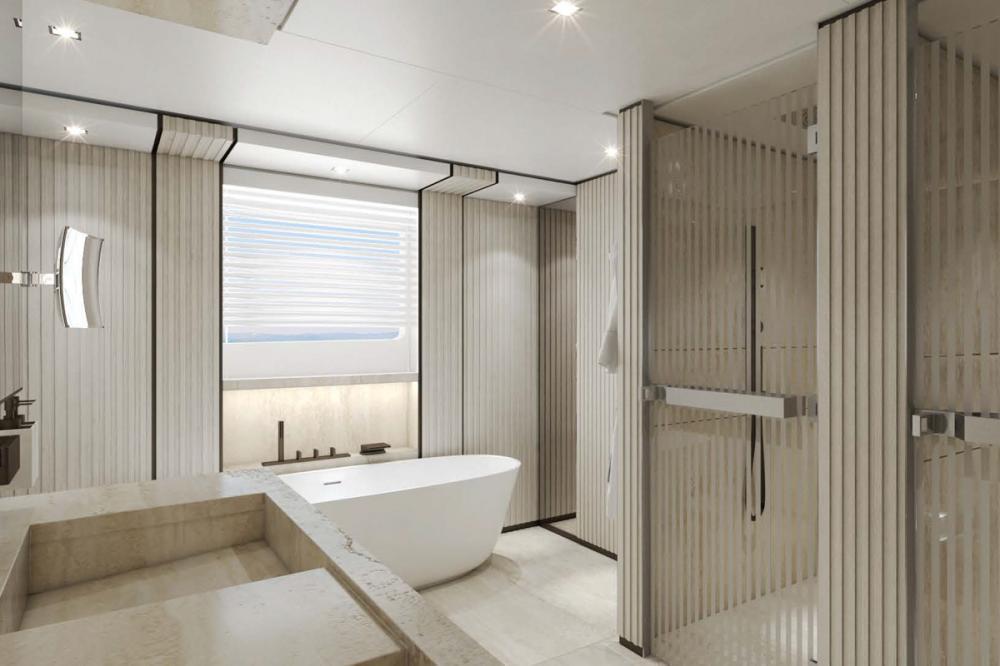 AQUAMARINE - Luxury Motor Yacht For Sale - Full-beam owner's stateroom - Img 3 | C&N