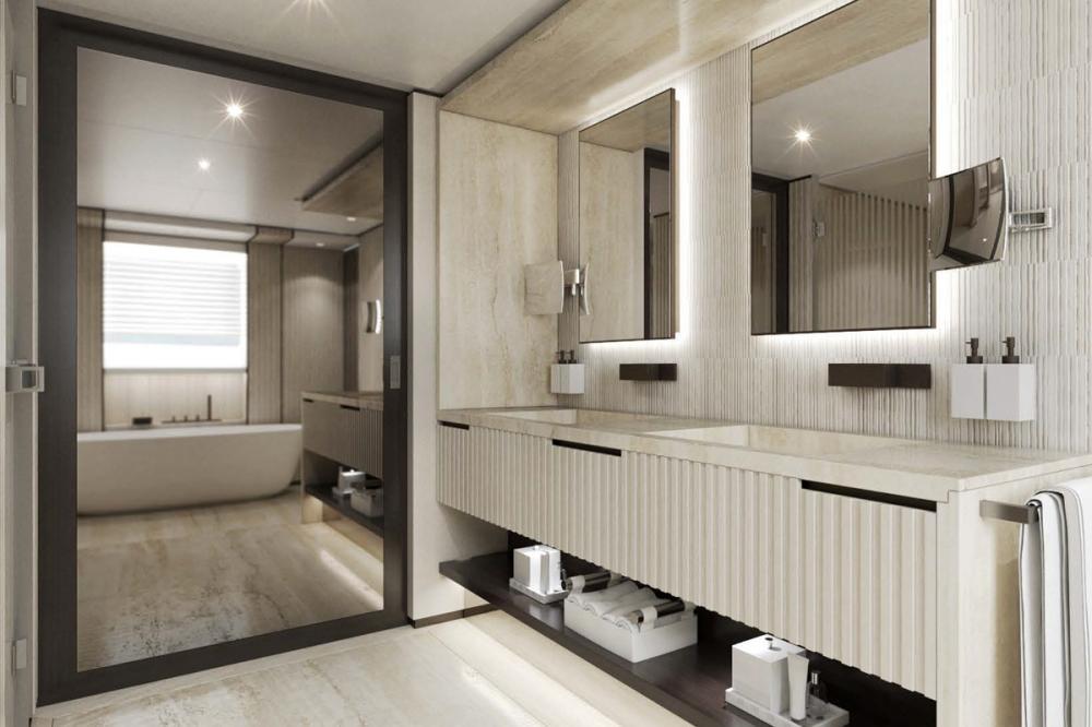 AQUAMARINE - Luxury Motor Yacht For Sale - Full-beam owner's stateroom - Img 4 | C&N