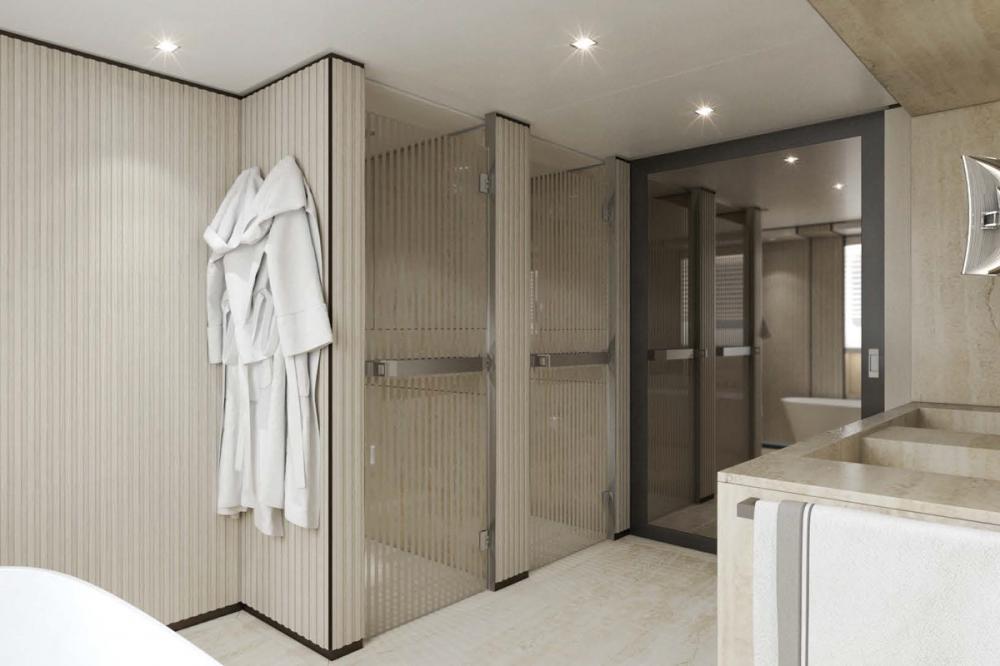 AQUAMARINE - Luxury Motor Yacht For Sale - Full-beam owner's stateroom - Img 5 | C&N