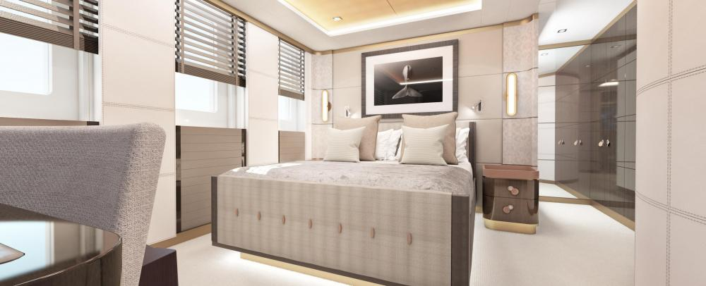 MOSKITO - Luxury Motor Yacht For Sale - Full-beam VIP suite - Img 1 | C&N