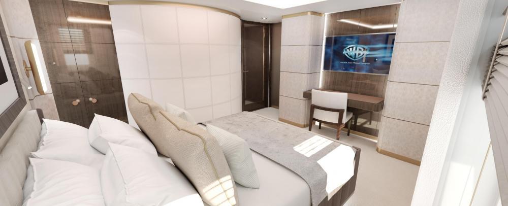 MOSKITO - Luxury Motor Yacht For Sale - Full-beam VIP suite - Img 2 | C&N
