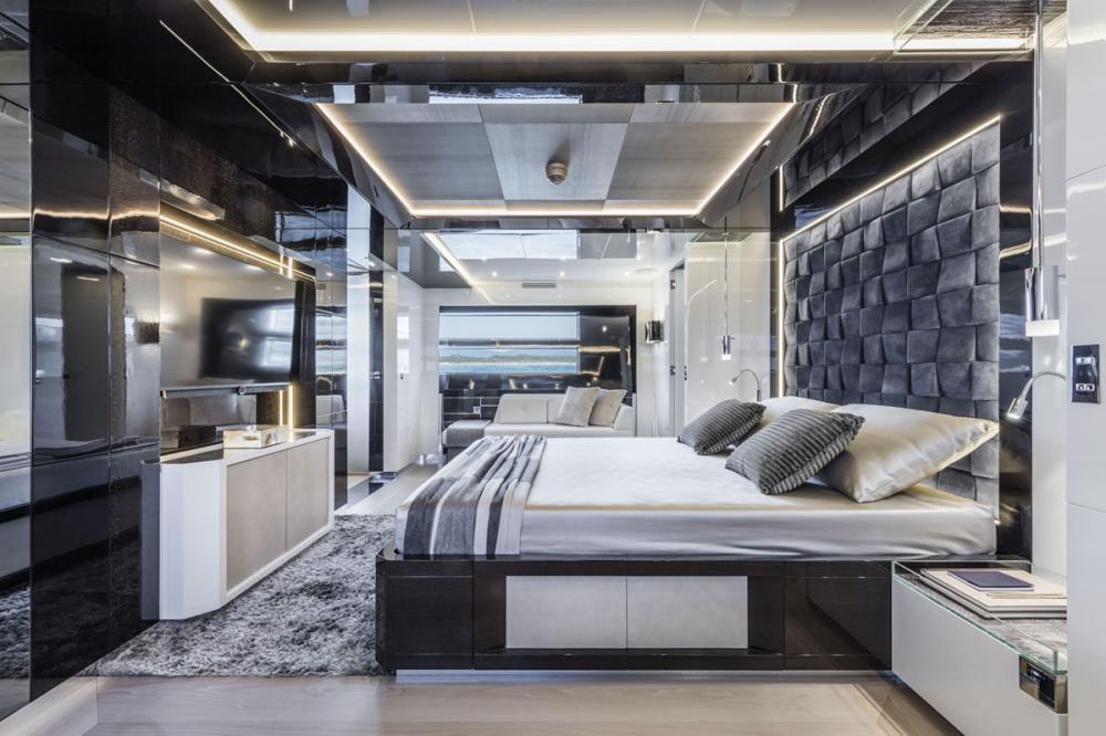 RJX - Luxury Motor Yacht For Sale - Full Beam Master Suite - Img 1   C&N