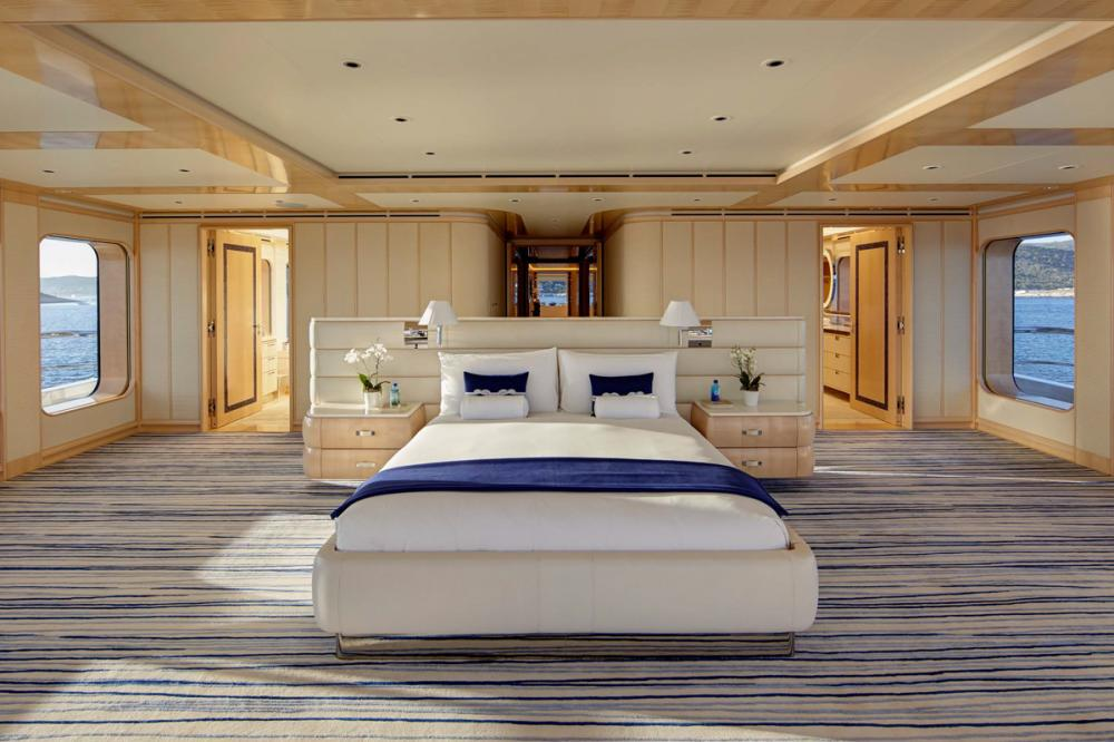 AQUARIUS - Luxury Motor Yacht For Charter - Master Cabin on owner's deck - Img 2   C&N