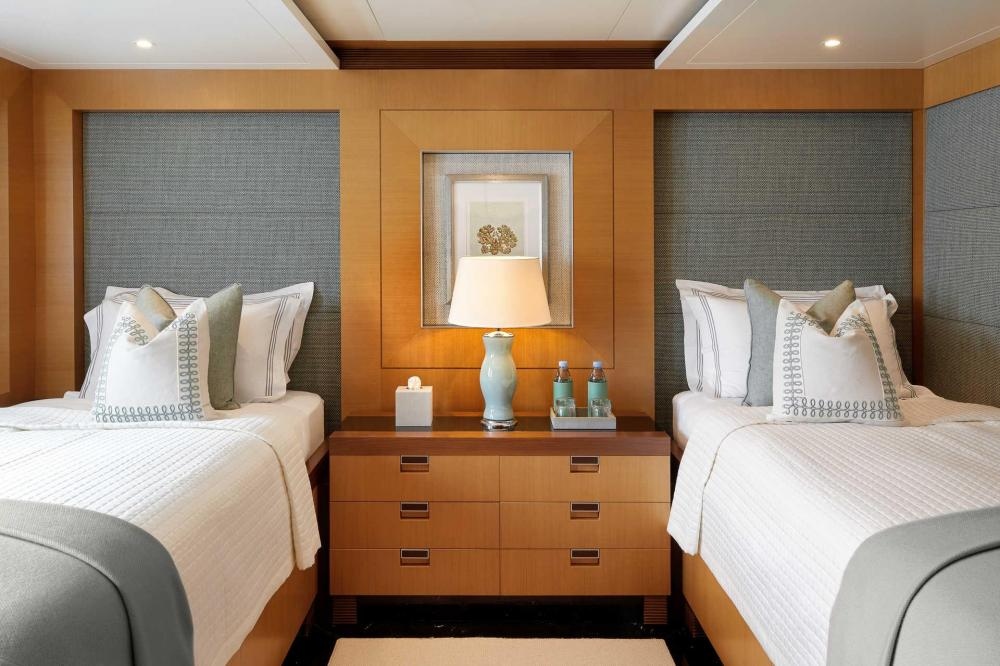 MIMI - Luxury Motor Yacht For Charter - 2 x Twin guest cabins with 2 single beds and additional Pullman berth with large walk-in shower - Img 1 | C&N