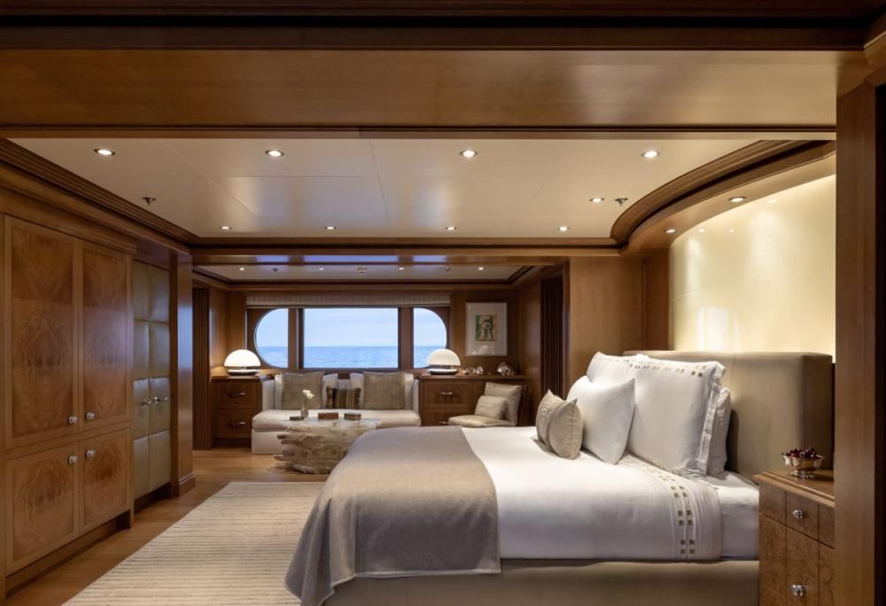 HELIOS - Luxury Motor Yacht For Charter - Master on main deck with Kind sized bed and full beam bathroom - Img 1 | C&N