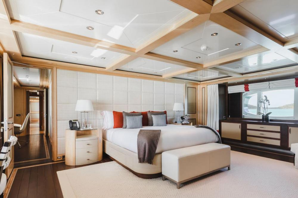 ODESSA - Luxury Motor Yacht For Charter - Master Suite with office/convertible cabin - Img 1 | C&N