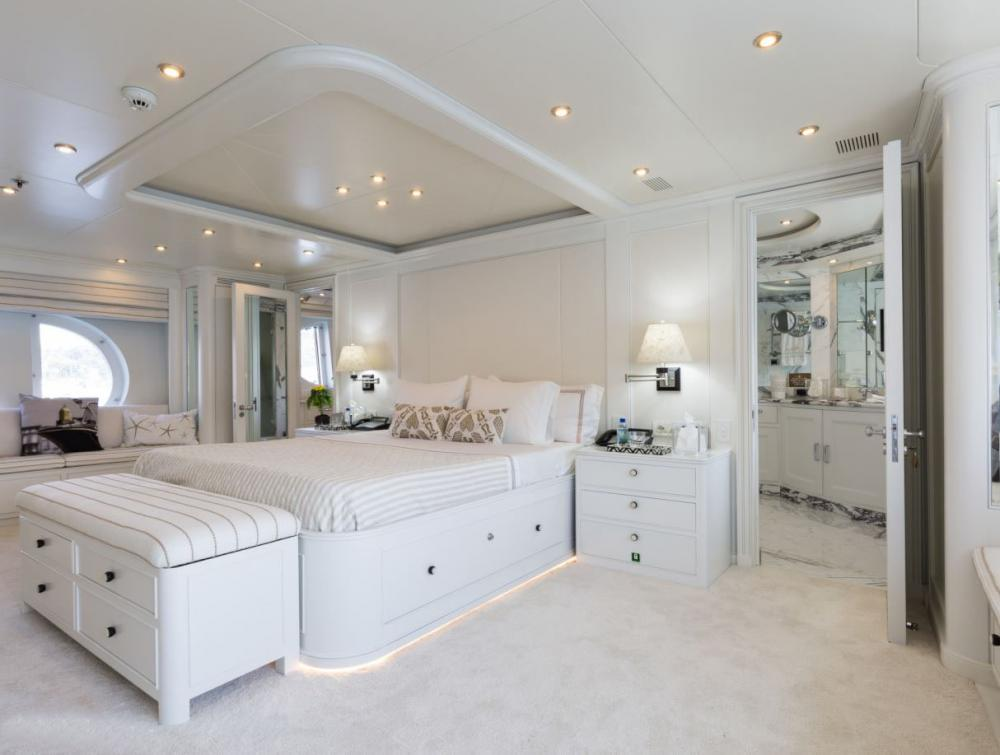 BINA - Luxury Motor Yacht For Charter - Master Stateroom Located forward of the Main Deck - Img 1 | C&N