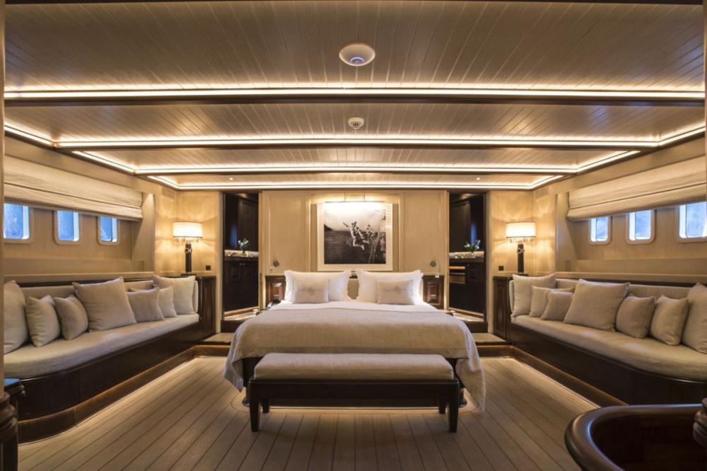 SATORI - Luxury Sailing Yacht For Charter - Full Beam Master Cabin - Img 1 | C&N