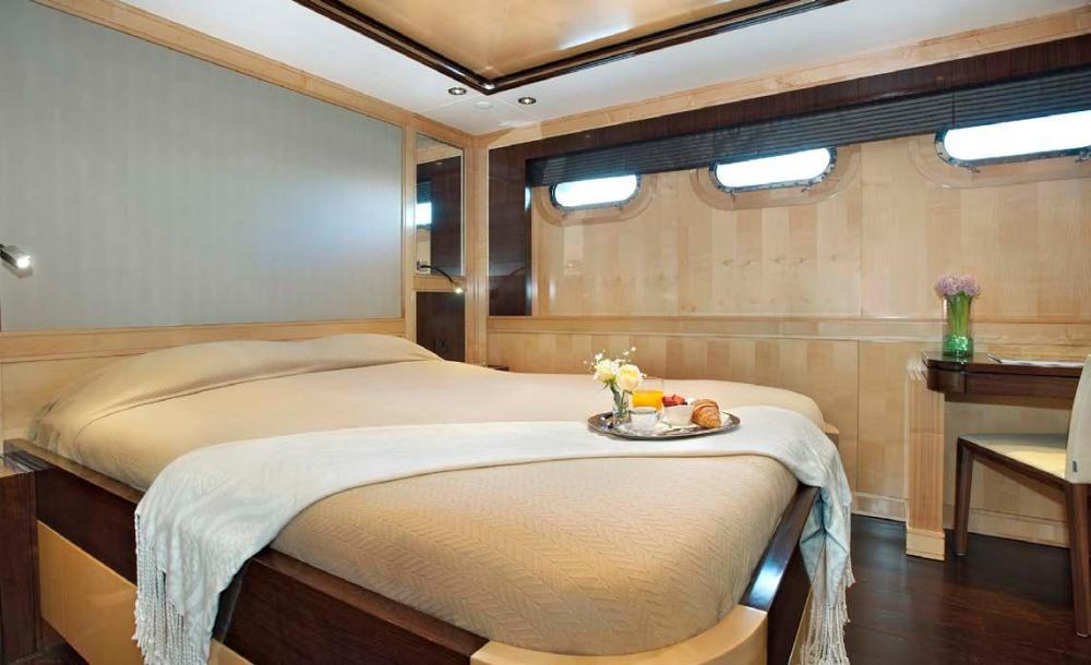 CHRISTINA G - Luxury Motor Yacht For Charter - Four Guest Cabins on the lower deck - Img 1 | C&N