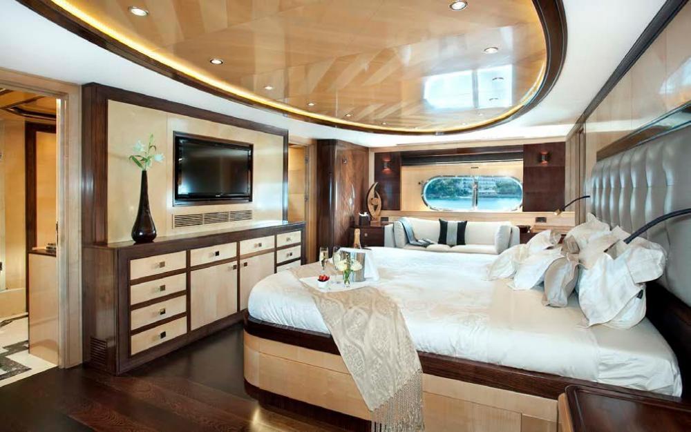 CHRISTINA G - Luxury Motor Yacht For Charter - Full Beam Master Suite - Img 1 | C&N