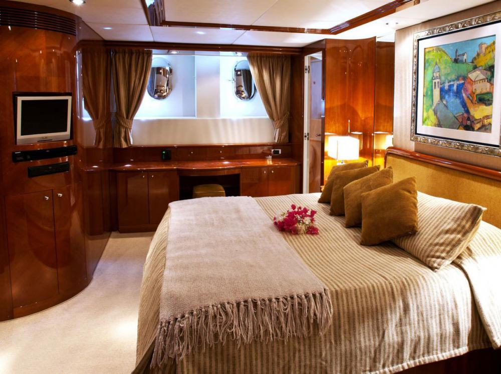 SUPER - Luxury Motor Yacht For Charter - Master on mid deck below - Img 1 | C&N