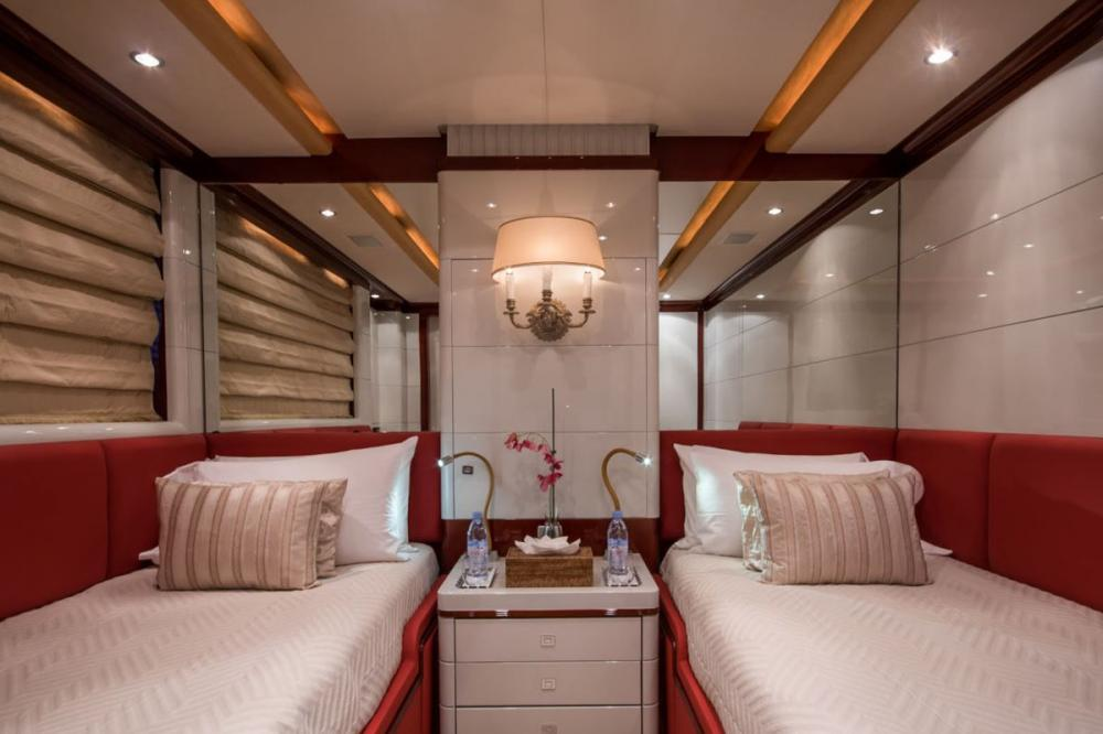 DIANE - Luxury Motor Yacht For Charter - 2 x Twin cabins on the lower deck with en suite bathrooms (one with additional Pullman berth) - Img 1 | C&N
