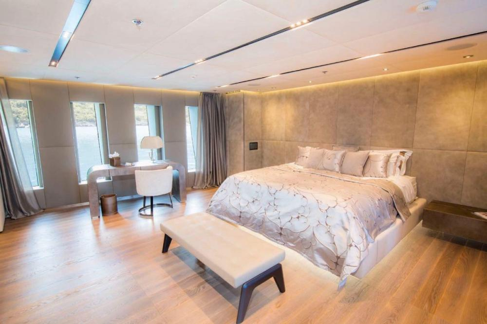 OURANOS CF50 - Luxury Motor Yacht For Charter - Master Suite - Img 1 | C&N
