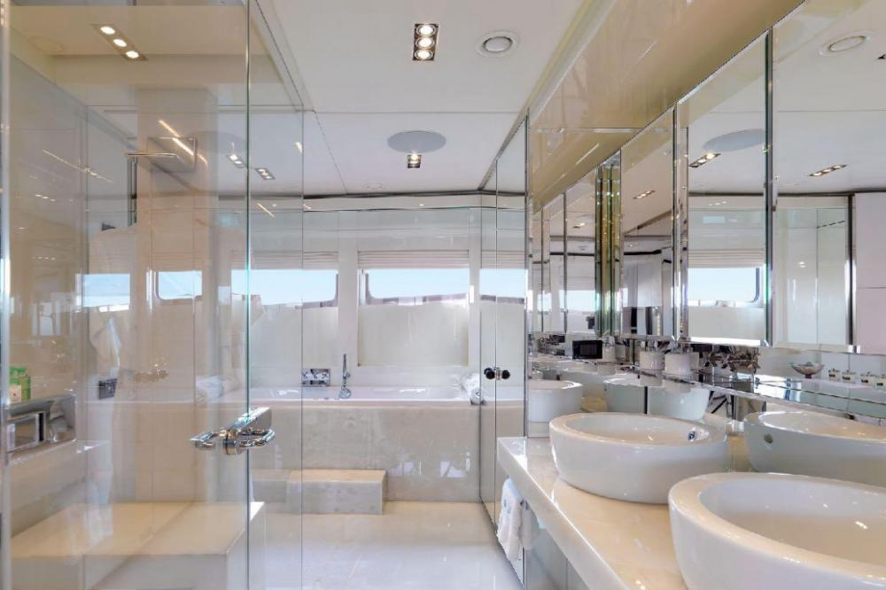 BLISS - Luxury Motor Yacht For Charter - Full beam master cabin with a private his and hers office space - Img 2   C&N