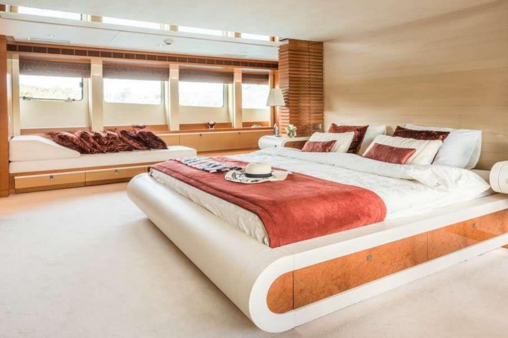 AGRAM - Luxury Motor Yacht For Charter - Full beam master stateroom - Img 1 | C&N