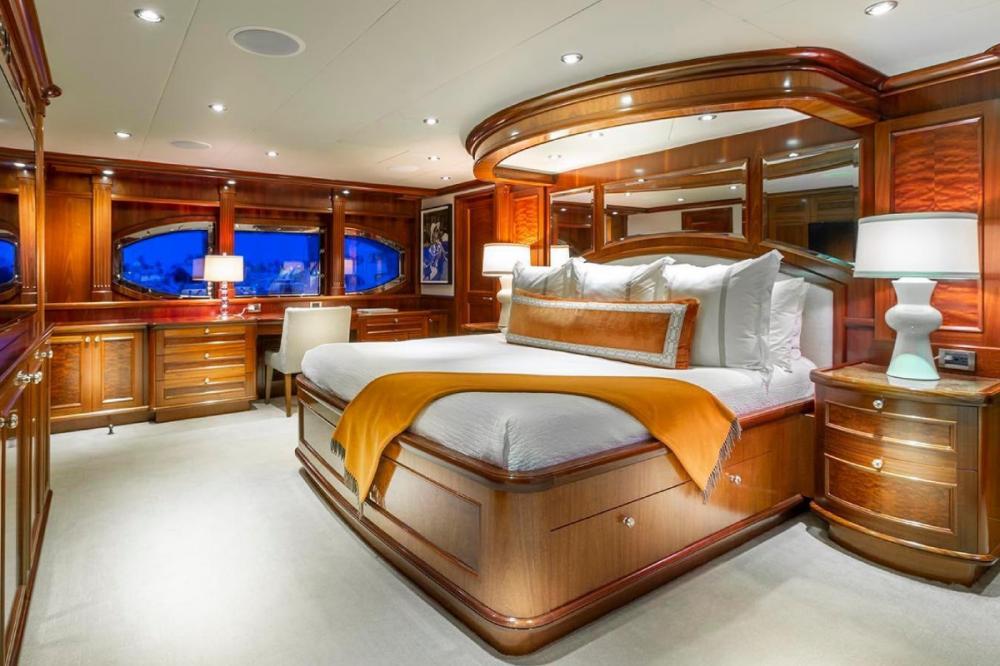 FAR FROM IT - Luxury Motor Yacht For Charter - Full beam Master Stateroom - Img 1 | C&N