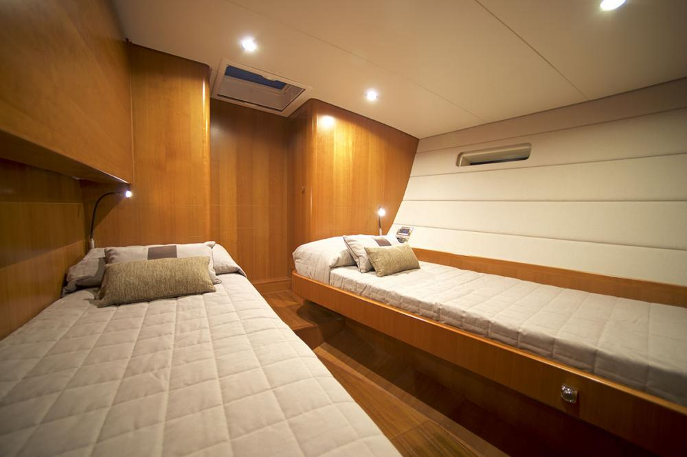 ALYSEE - Luxury Sailing Yacht For Sale - 2 Aft Cabins with single beds - Img 1 | C&N