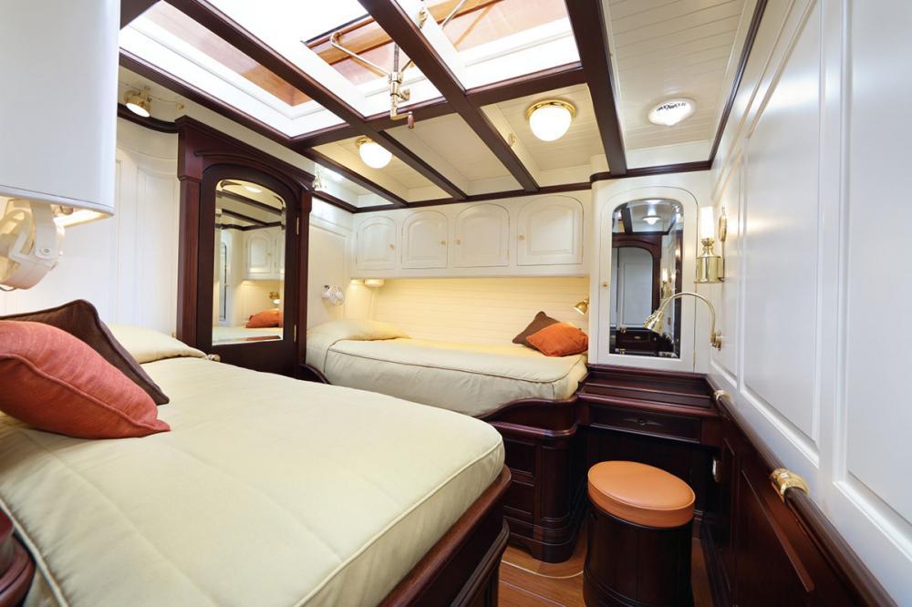 ASGARD - Luxury Sailing Yacht For Sale - 3 Guest Cabins Forward - Img 2 | C&N