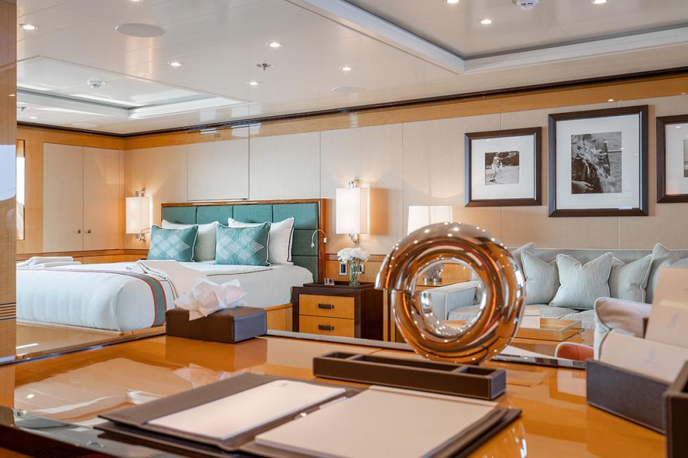 SERENITY J - Luxury Motor Yacht For Charter - 1 MASTER CABIN - Img 3 | C&N