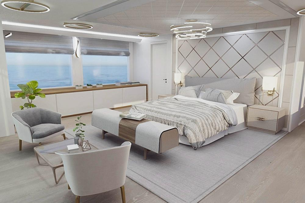EXPLORER ICE CLASS - Luxury Motor Yacht For Sale - Owner's Cabin - Img 1 | C&N