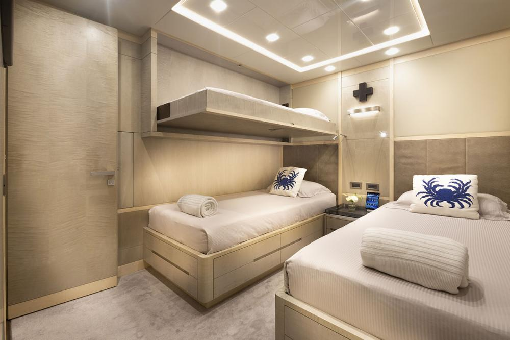 DELIBERATELY LUCKY - Luxury Motor Yacht For Sale - Two Double Cabins with Pullman Berths - Img 1   C&N