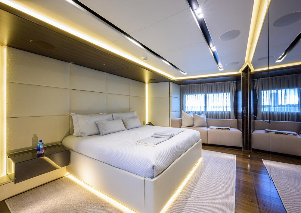 SAFE HAVEN - Luxury Motor Yacht For Charter - Master Cabin - Img 1 | C&N