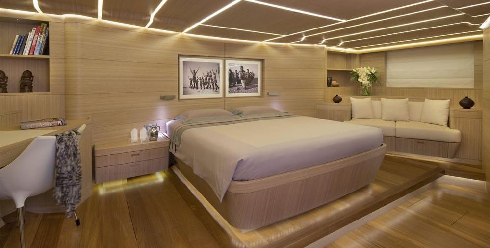 OHANA - Luxury Sailing Yacht For Charter - Master Stateroom - Img 1 | C&N
