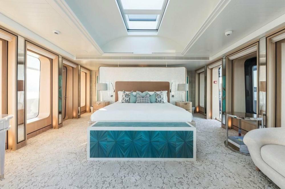 JOY - Luxury Motor Yacht For Charter - Full beam owner's cabin - Img 1   C&N