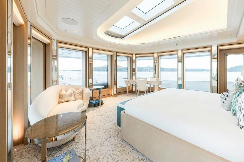 JOY - Luxury Motor Yacht For Charter - Full beam owner's cabin - Img 3   C&N