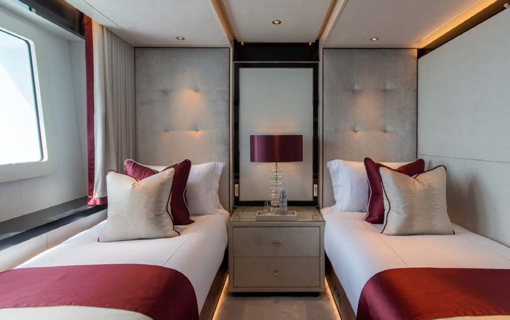 NORTH STAR - Luxury Motor Yacht For Charter - Twin Cabins located on the lower deck - Img 1 | C&N