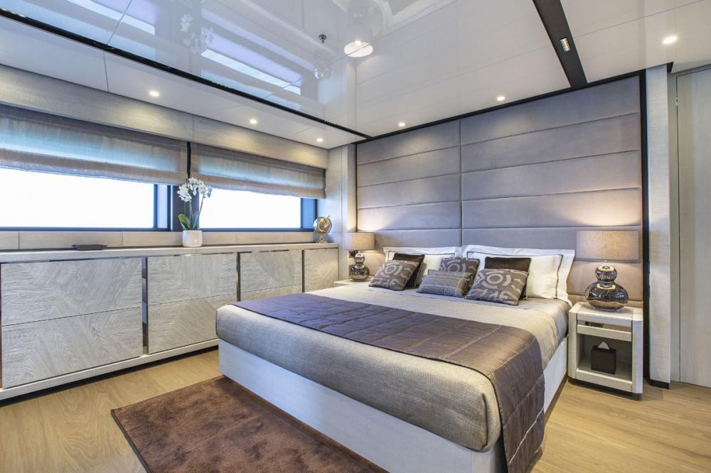 STERN - Luxury Motor Yacht For Sale - 1 MASTER CABIN - Img 1 | C&N