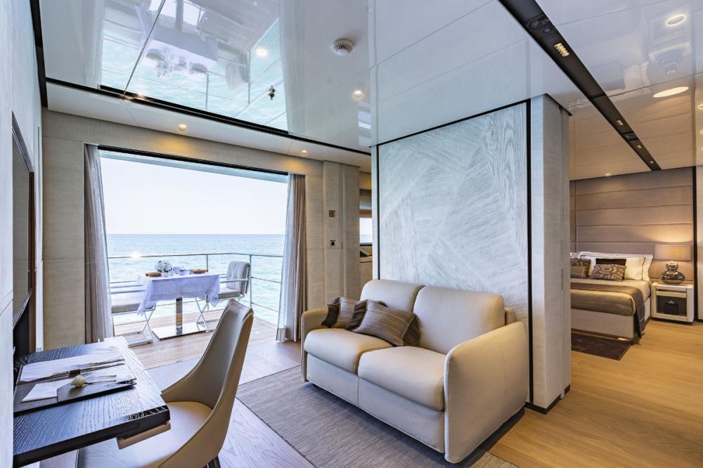 STERN - Luxury Motor Yacht For Sale - 1 MASTER CABIN - Img 2 | C&N