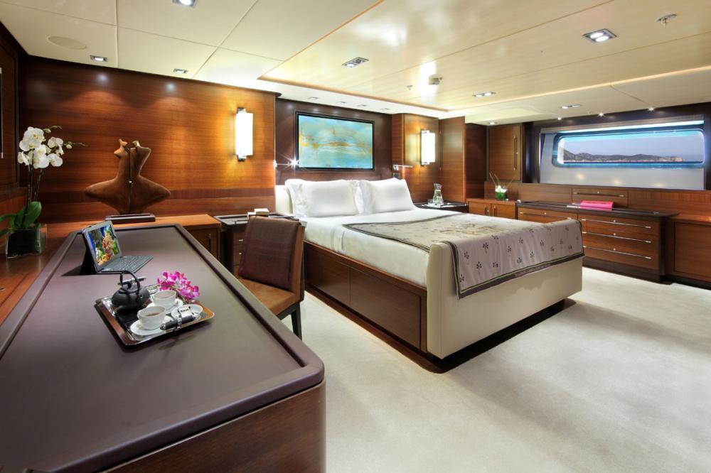 PRANA - Luxury Sailing Yacht For Charter - 1 MASTER CABIN - Img 1   C&N