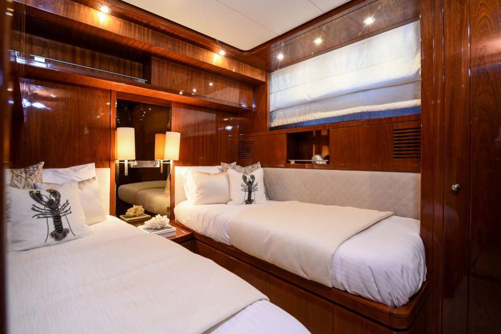 Zen - Luxury Motor Yacht For Sale - 2nd Twin Cabin - Img 1 | C&N
