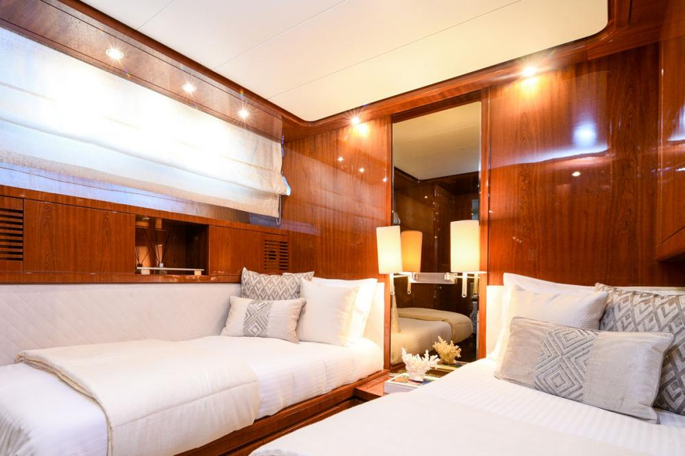 Zen - Luxury Motor Yacht For Sale - 1st Twin Cabin - Img 1 | C&N