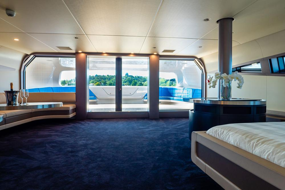 ROYAL FALCON ONE - Luxury Motor Yacht For Sale - Master Suite - Img 3 | C&N