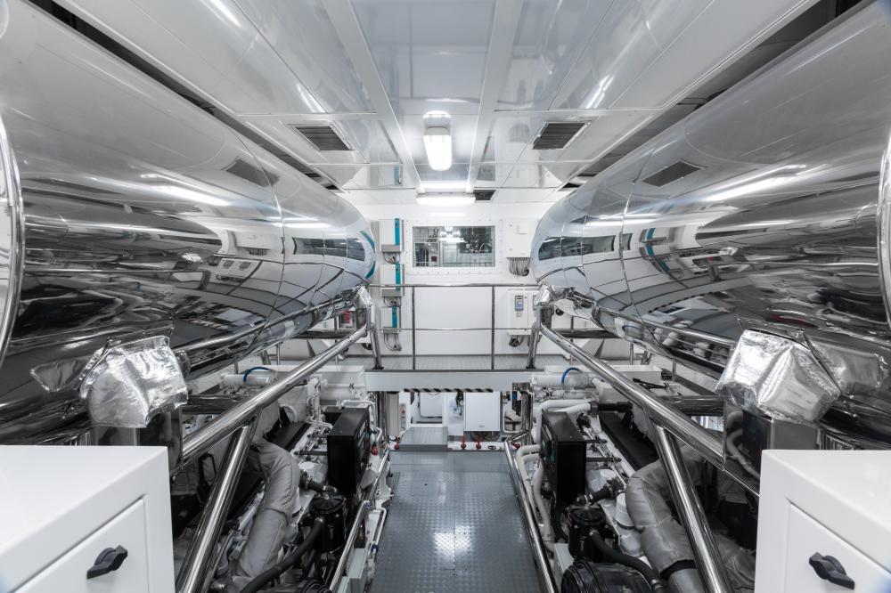 OKTO - Luxury Motor Yacht For Charter - ENGINE ROOM - Img 1 | C&N