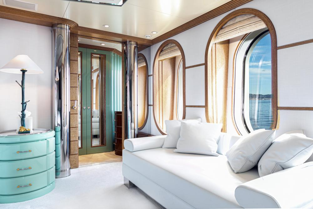 SEA HUNTRESS - Luxury Motor Yacht For Sale - On deck master stateroom - Img 2 | C&N