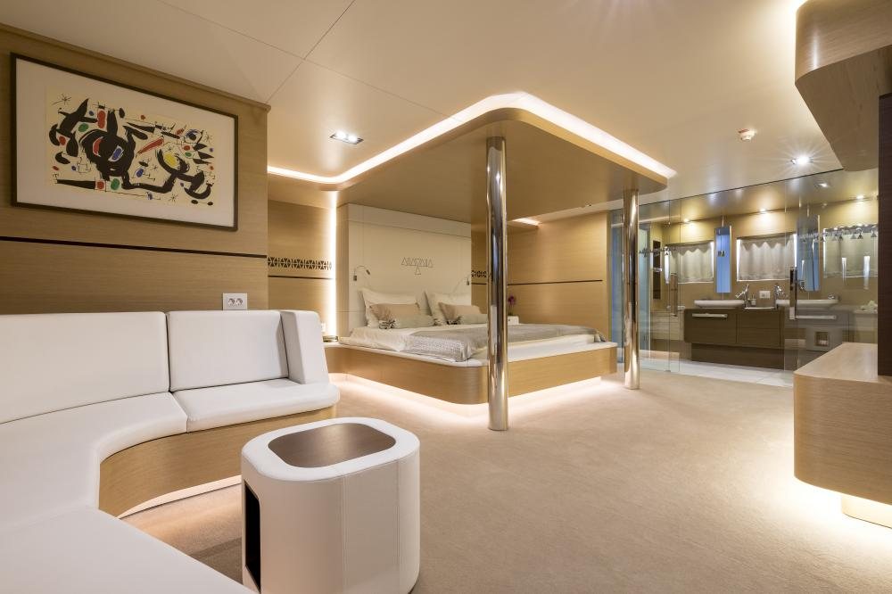 AIAXAIA - Luxury Sailing Yacht For Charter - Master cabin - Img 1 | C&N