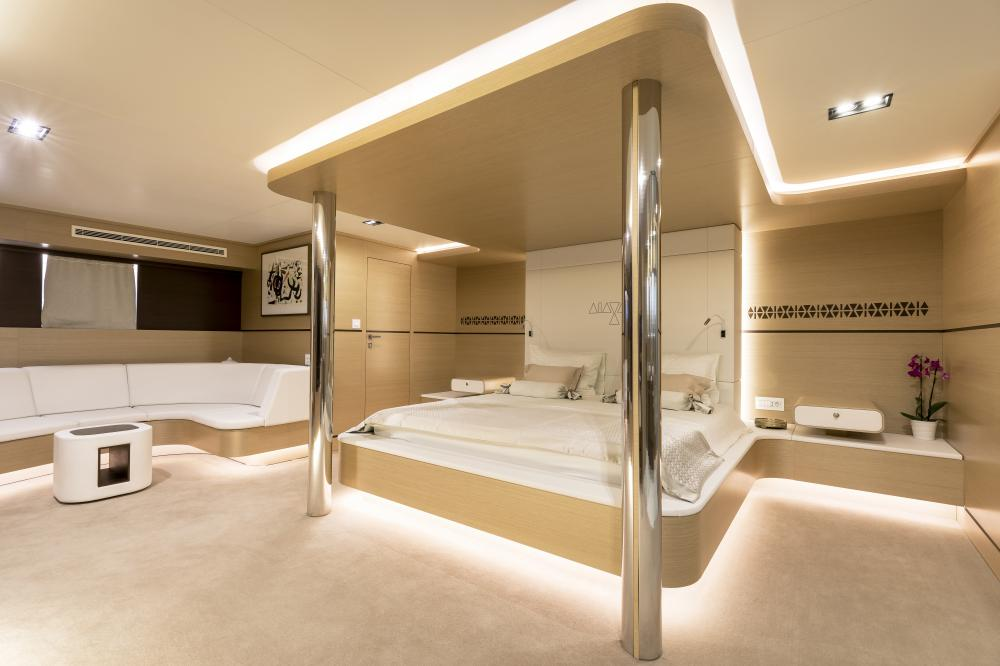 AIAXAIA - Luxury Sailing Yacht For Charter - Master cabin - Img 2 | C&N