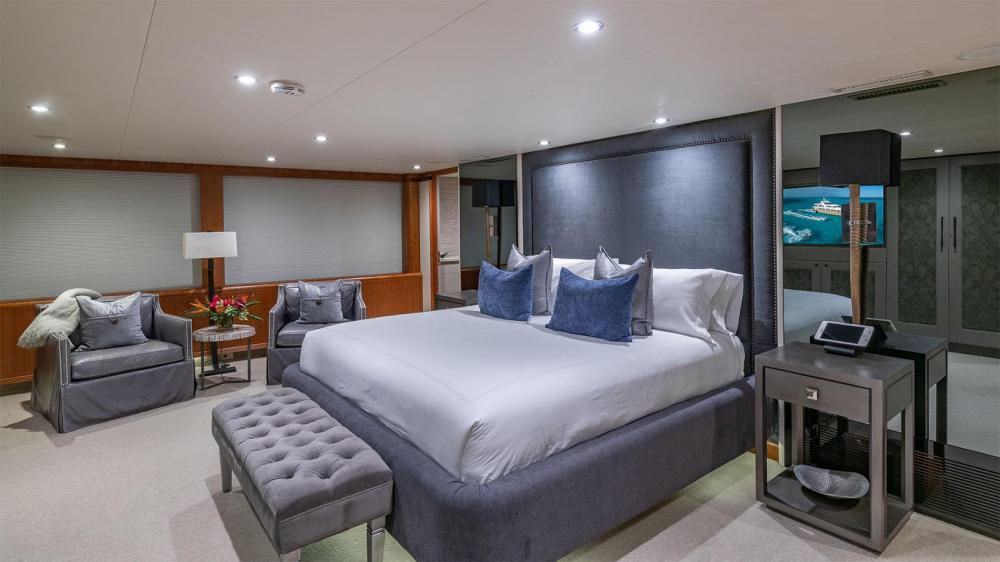 ZEAL - Luxury Motor Yacht For Charter - Full beam master stateroom - Img 1   C&N